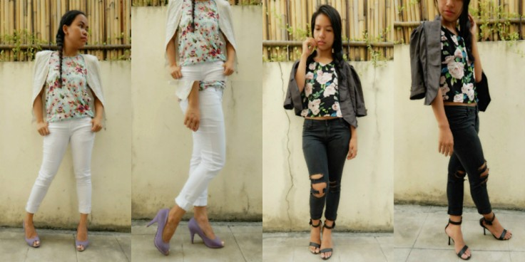 4 FLORALTOPS with COAT